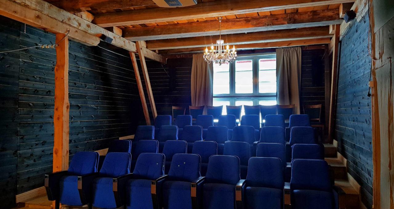 Møterom/auditorium på Låven
