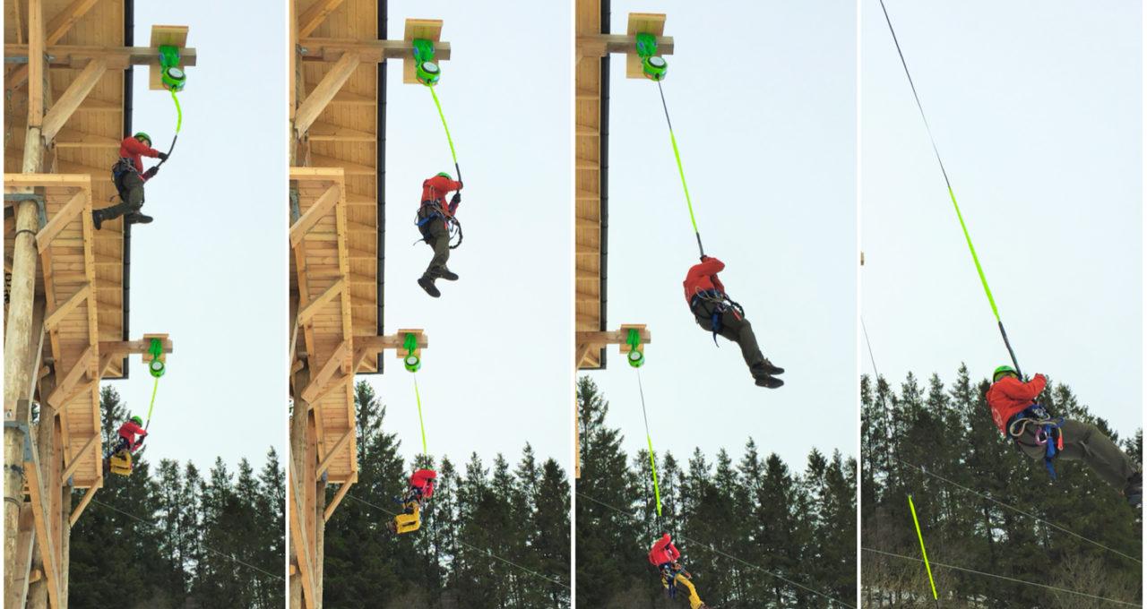 Madam Felle Free-Fall jump