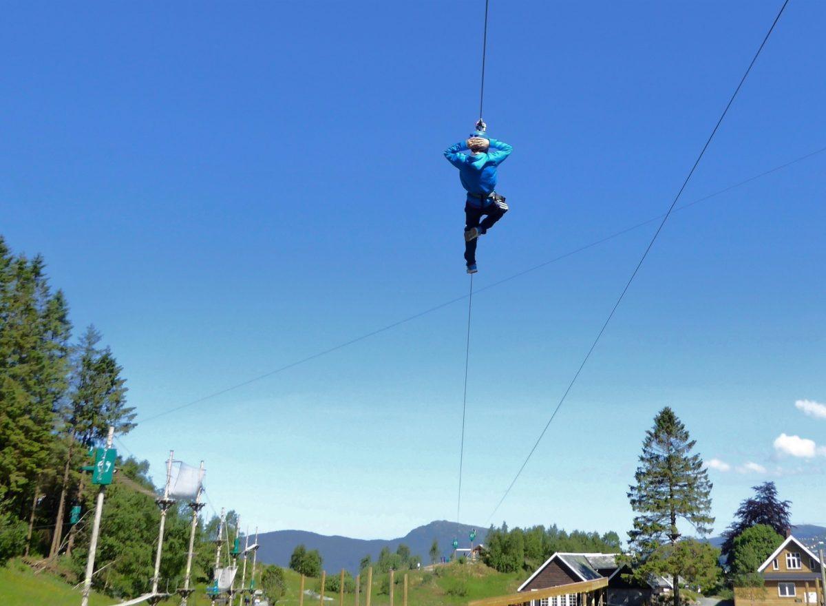 300 meter lange zip-liner