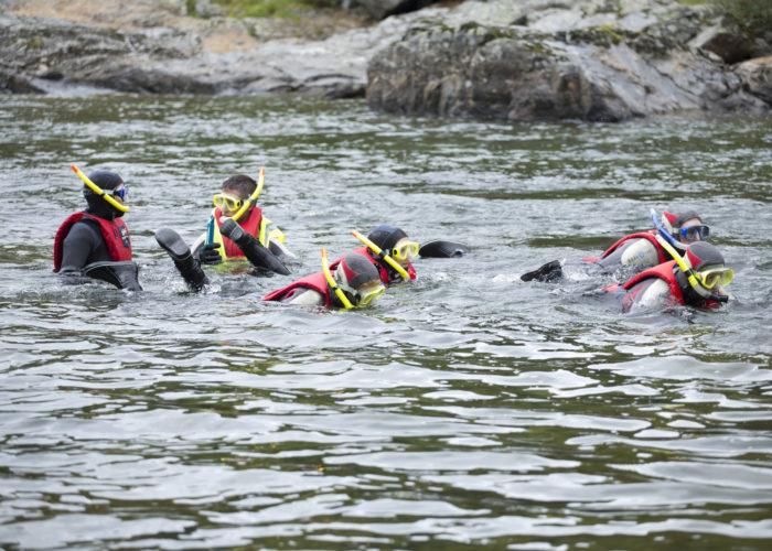 River snorkling