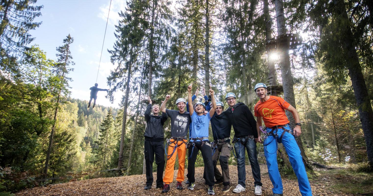 Høytflyvende opplevelser i klatreparken